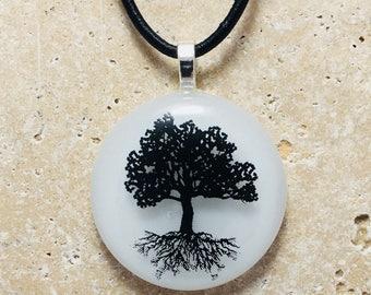 Tree Of Life Fused Glass Pendant