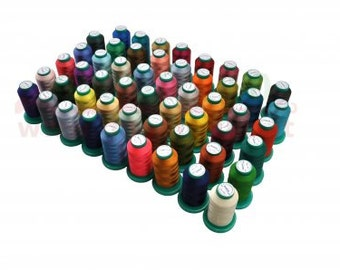 Mixed Embroidery yarn polyester coils 53 PCs.