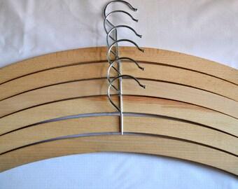 12 x Wooden Coat Hangers. 42cm long Adult size. Beech wood, Crafts.