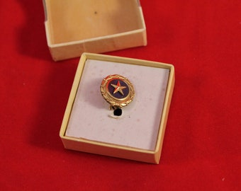 Militaria Gold Star Act Pin - WW2