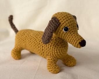 Wiener Dog Crochet Pattern, Amigurumi Puppy