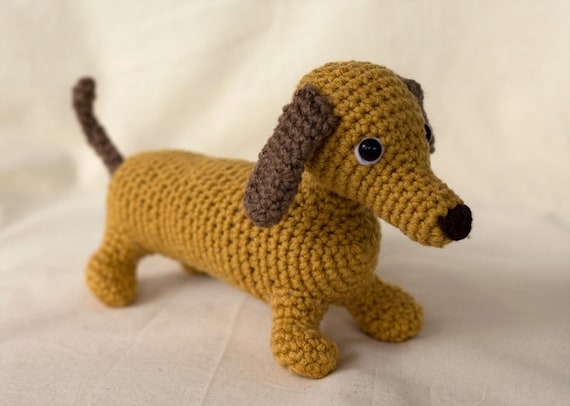 Amigurumi Dog Crochet Patterns : Wiener dog crochet pattern amigurumi puppy from theloftyloop on