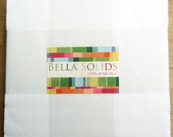 "White, Bella Solid Layer Cake 42 - 10"" squares, 9900LC 98"