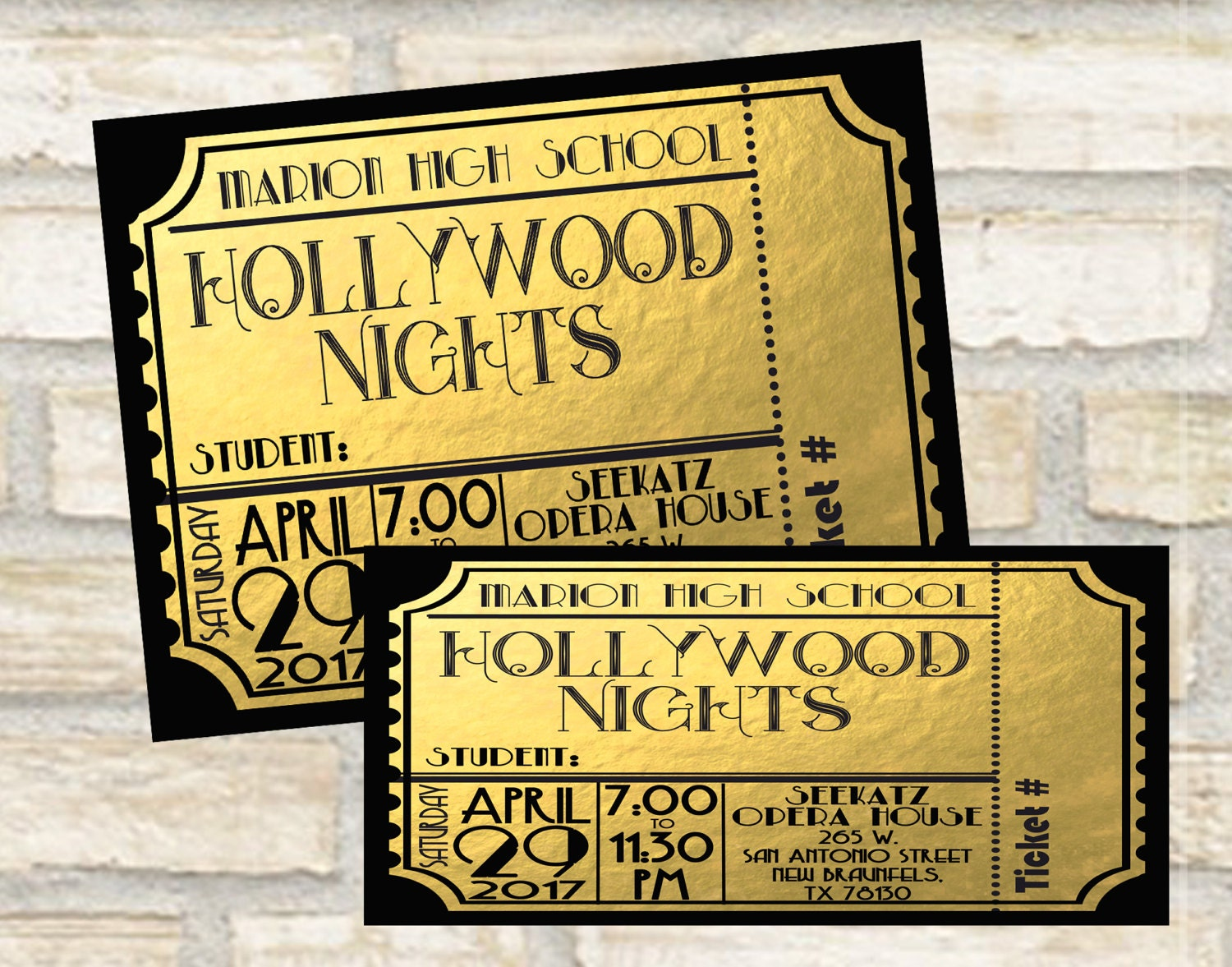 Description. Golden Ticket Design ...  Prom Tickets Design