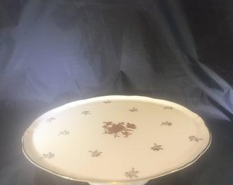 Vintage Limoges Pedestal Cake Plate