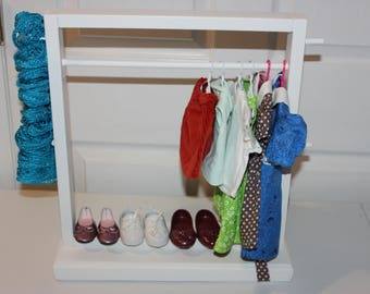 High Quality Doll Clothes Rack,Clothes Storage,Doll Furniture,18 Inch Doll