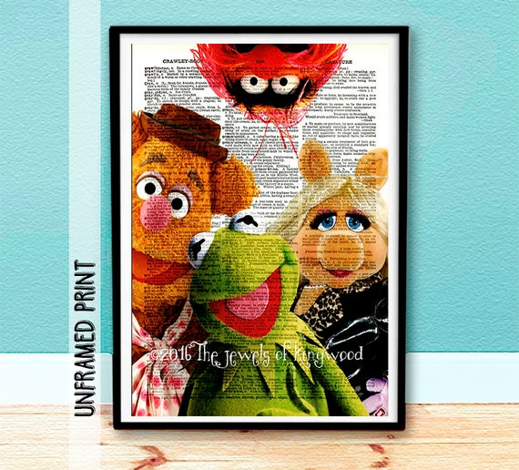 Muppets Animal Free Printable: Kermit-Fozzie-Miss Piggy-Animal Muppets Dictionary Print