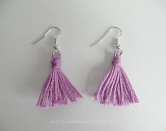 Purple Tassel Earrings, Tassel Earings,Purple Earrings, Women Tassel Earrings. Popular Earrings