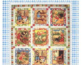 American Jane Patterns - Animal Noises Quilt - Sewing Quilting Pattern - Designer Sandy Klop