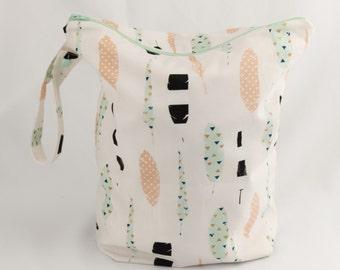 Wet Bag of Week -Feather Wet Bag