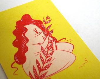Oh! Natural Postcard Print