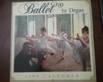 Vintage Ballet By Degas 1994 Calendar