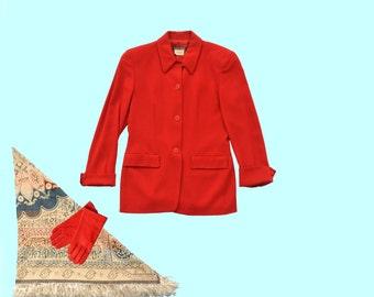 1980s Red Giorgio Armani Jacket size M