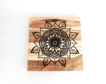 Mandala Wood Wall Art - Wood Art, Wood Home Decor, Wooden Wall Decor, Wall Decor, Wooden Wall Art, Rustic Wall Decor, Rustic Wood Art