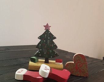 Wood Christmas Trees, Tabletop Christmas Tree, Christmas Decorations, Wooden  Christmas Tree, Wood