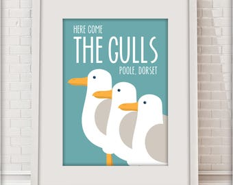 Here come the Gulls, Poole, Dorset, Love Dorset collection