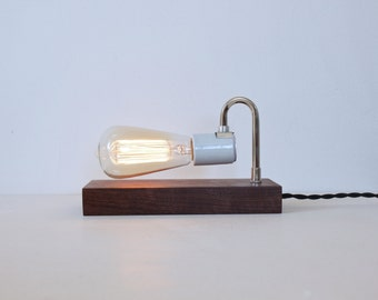 Johnny-Do-It-All Table and Wall Lamp- Walnut