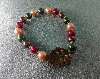 Leaf Forest Elven Beaded Bracelet