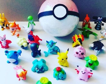 Large Pokemon Inspired Bath Bomb with Toy Inside