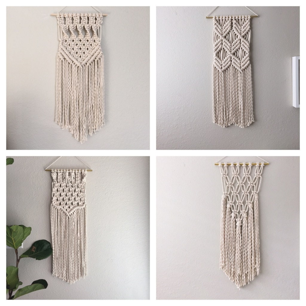 modern macrame patterns macrame kit macrame wall hanging kit diy gift kit for macrame 2839