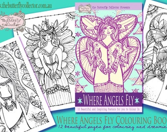 Where Angels Fly Art Therapy Coloring Book for Adults and Children