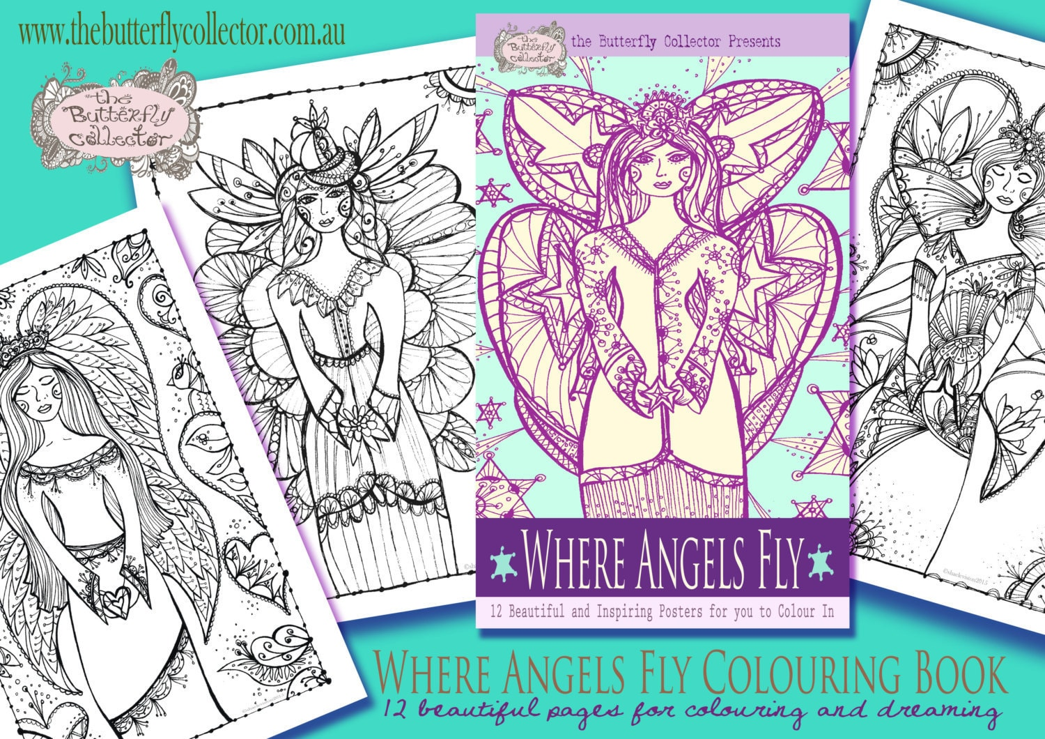 fly angel coloring pages - photo#21