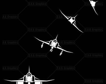 F-4 Phantom white vinyl decals