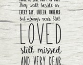 Items similar to Bereavment gift, Funeral words