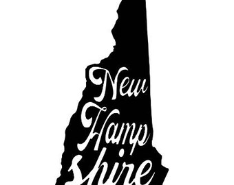 New Hampshire Home State Vinyl Car Decal Bumper Window Sticker Any Color Multiple Sizes Jenuine Crafts