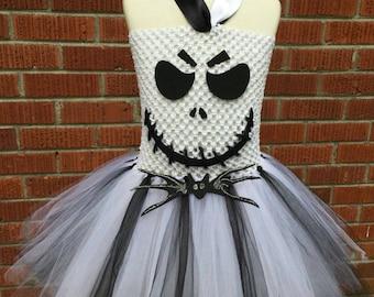 Jack Skellington Costume - Jack Skellington Dress - Jack Skellington Tutu Dress - Nightmare Before Christmas Costume - Toddler Costume