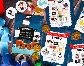 Pirate Bingo Game - Pirate Party Activity