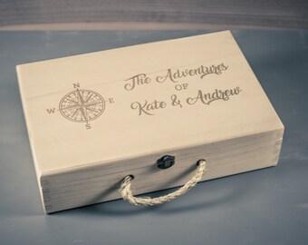 Adventure Keepsake Box, Travel Keepsake Box, Memory Box
