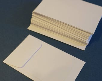 25 White Mini Envelopes / Pocket for Journaling and Scrapbooking