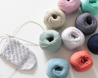 "Fonty ""Co-cache"" cashmere-cotton yarn for spring, summer, autumn"