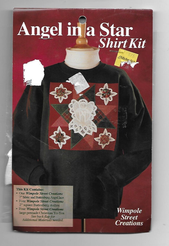 Puppy Bows ~ craft items angel star shirt kit Wimpole Street Creations appliques