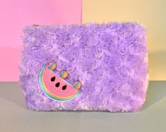 Watermelon Furry Lilac Make-Up Bag/Pencil Case