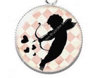 Pendant cabochon resin Valentine Cupid 3