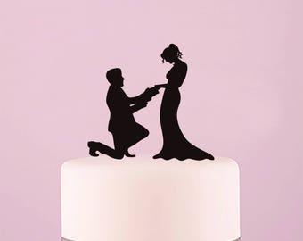 Acrylic wedding cake topper