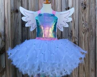 Unicorn tutu, unicorn dress, pastel unicorn tutu, unicorn headband,rainbow unicorn dress, unicorn party, pegasus wings, unicorn costume
