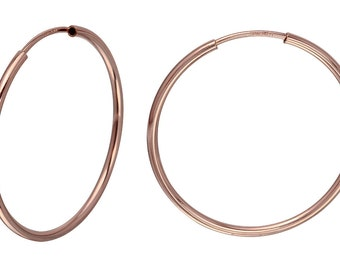 1 Pair 12 mm Hoops 14K Rose Gold Filled Endless (RGF4003806)