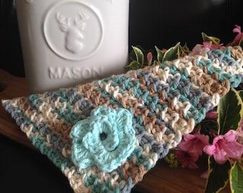 Handmade Cotton Posey Dishcloth/Small Facecloth