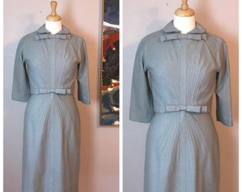 Vintage Carlyle Wool Wiggle Dress Suit 50's 60's