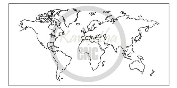 Dxf file world map from dxfworld on etsy studio gumiabroncs Choice Image
