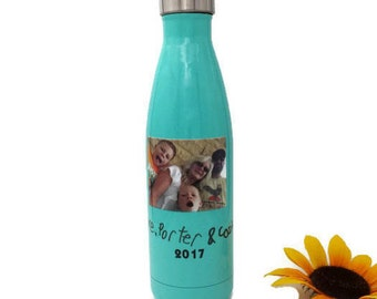 Gift for Mother - Mothers Day Gift - Gift for Mom - Teal Bottles - Personalized Water Bottle - Custom Bottle - Stainless Steel Water Bottle