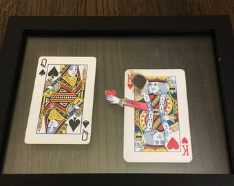 Altered Playing Card- Interracial Love