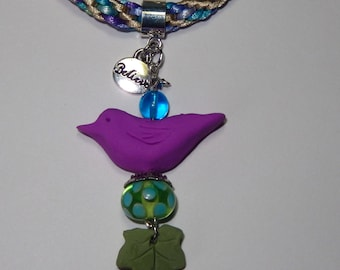 "Lilac Tree Swallow - Little Birds ""Spirit"" Necklace"