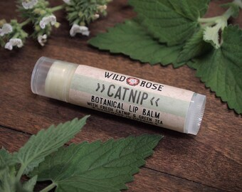 Cat Lip Balm CATNIP - All Natural with Organic Catnip .15 oz Crazy Cat Lady Gift stocking stuffer