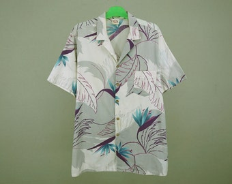 Barefoot in Paradise Shirt ~ Men Size XL ~ Vintage Barefoot in Paradise Hawaiian Shirt ~ Made in USA