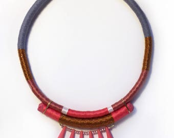 Connie - Wrapped statement necklace