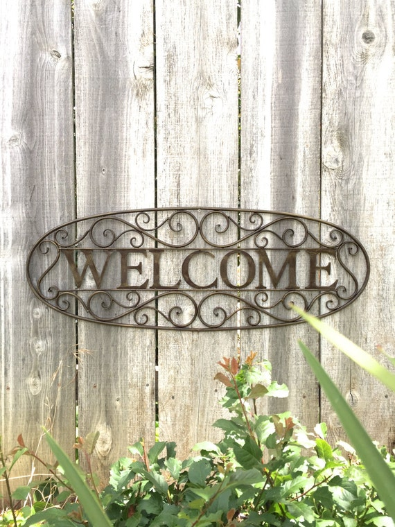 Welcome Sign Metal Welcome Sign Metal Sign Welcome Sign